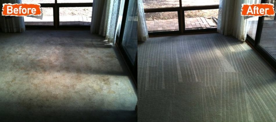 before and after of grey carpet cleaning in house