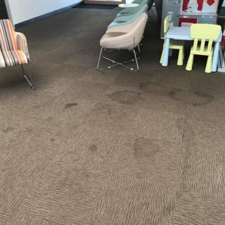carpet in childcare centre before being cleaned