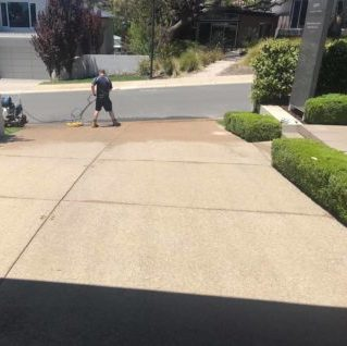 after cleaning a driveway