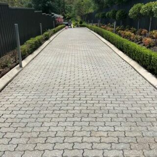 after cleaning crinkle pavers